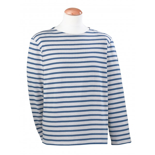 For him the boat neck shirt a modest obsession for St james striped shirt